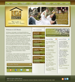 New LGI Homes Home Page